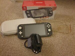 Nintendo Switch Lite 32GB Grey Console plus Case, in Box