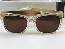 New Super Retrosuperfuture 892 Classic Francis Crystal Gold Sunglasses Size 55mm
