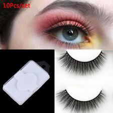 10x/set Eyelash Blank Eyelashes Plastic Packaging  Box Transparent Lid Tray CO
