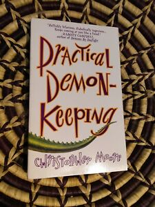 Practical Demonkeeping by Christopher Moore signed mini paperback