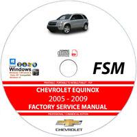 Chevrolet Equinox 2005 2006 2007 2008 2009 Service Repair Manual on CD