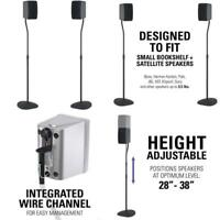 "SANUS Adjustable Height Speaker Stand - Extends 28"" to 38"" - Holds Satellite am"