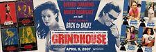 "Original 2007 GRINDHOUSE DEATH PROOF PLANET TERROR Tarantino 48"" X 142"" BANNER"
