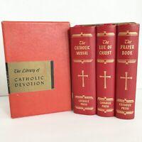 1954 The Library of Catholic Devotion-Catholic Missal-Life of Christ-Prayer Book