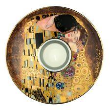 "Goebel PORCELANA SOPORTE de vela - ""Gustav Klimt - El beso 1907-1908"" - NUEVO"
