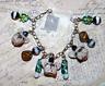 Whimsical Frenchie French Bulldog Dog Charm Bracelet Jewelry Beads Ooak Rustic