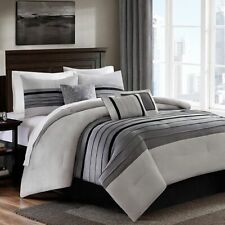 Bed Bath & Beyond Dylan 7 Piece Comforter Set Grey Size FULL