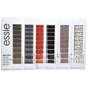 6x Essie Sleek Stick Nail Stickers Art Assortment (1 Pack Each)