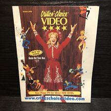 Vintage VHS Catalog Oct 2000 Critics Choice Video Horror Late Night Drama Comedy
