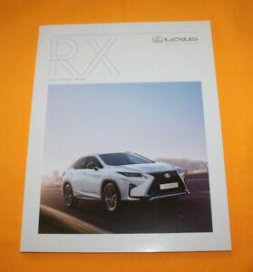 Lexus RX 2018 Prospekt Brochure Depliant Catalog Folder Prospetto Broschyr