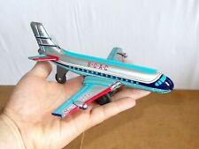 vintage tin toy japan friction jetliner airplane BOAC HAVILLAND COMET DHC8 - 60s
