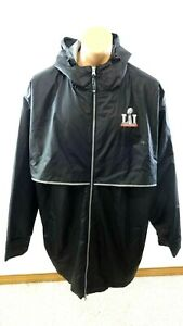 NFL L1 2017 FOOTBALL SUPERBOWL HOODED RAIN JACKET BY CHARLES RIVER SIZE 3XL