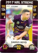 Brisbane Broncos 2017 Season NRL & Rugby League Trading Cards