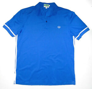 Vintage FRED PERRY Sportswear Polo Shirt BLUE Activair Pique Tennis Mens NEW Md
