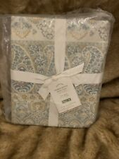 New Pottery Barn Meagan Duvet Cover Blue Green Queen Paisley 92 X 88""