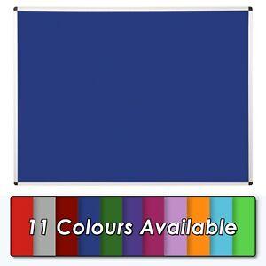 Premium Felt Noticeboard, Aluminium Frame - 900 x 600mm with Fixings -11 colours