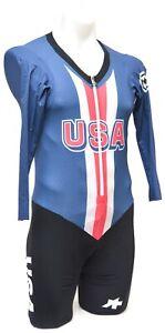 Assos Team USA Speedfire Long Sleeve Skinsuit Men SMALL Road Bike Race Olympic