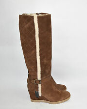 New! Aquatalia 'Callie' Chestnut Suede Winter Boot Size 11