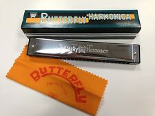 NEW Butterfly Harmonica SH-B24 24-Holes Quality Musical Instrument KEY OF C-S110