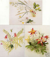3 different Tasha Tudor Vintage Columbine Greeting Cards MINT with envelopes