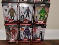 """Marvel Legends 6"""" Spider-Man Into The Spider-Verse Wave (Stilt Man BAF) Set of 6"""