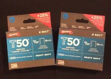 """(2) NEW Boxes Of Genuine Arrow Staples T50  17/32"""" Ceiling Staples, 1,250-Pack"""