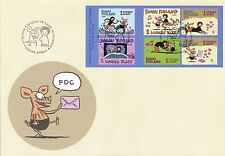 Finland 2003 FDC Sheet - Cartoon Viivi and Wagner - Friendship - Issued Jan 15