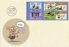 Finland 2003 FDC Sheet - Comics - Cartoon - Viivi and Wagner - Friendship - Love