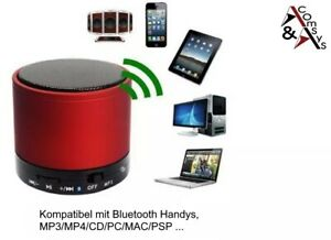 Mini Bluetooth Lautsprecher Speaker Box Tragbar Mikrofon Musik Radio Handy Rot