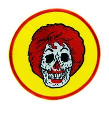Ronald McDonald Skull Patch Iron on Applique Clothing Americana Fast Food Foodie