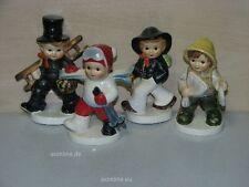 4 Goebel Porzellan Figuren, Set, Schornsteinfeger, Fischer, Wanderer, Skifahrer