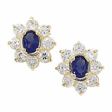 Unbranded Cubic Zirconia Sapphire Costume Earrings