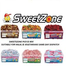 SWEETZONE JELLY TUBS SWEET VARIOUS VARIETIES 100% HALAL HMC FIZZY PENCILS CANDY