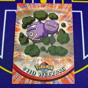 Pokemon Card - Weezing #110 Topps TV Animation Series 2 - 2000