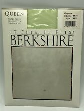 Berkshire It Fits Queen Pantyhose Green Petite Vtg 1990 NOS