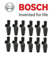 NEW BMW E31 850Ci 850CSi E32 750iL Set of 12 Fuel Injectors OEM Bosch