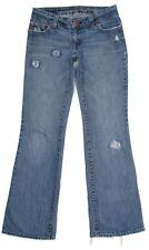 American Eagle Womens Jeans Size 2 28x32 Boy Fit Deconstructed Cotton Denim