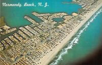 NJ Normandy Beach AERIAL VIEW c1960s Dexter Press postcard A90