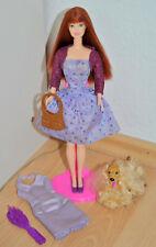 Barbie Fashion Fashionistas rothaarig mit Hund Ginger