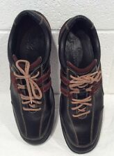Cole Haan Lace Up Shoes Black Brown Walking Sneakers Casual Vibram Sole 10 M Men