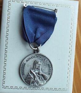 Sodality of Our Lady Medal Medal Regina Advocata et Mater cast metal Vintage