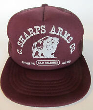 Vintage C Sharps Arms Co Snapback Trucker Hat Old Reliable Company Cap VGC USA