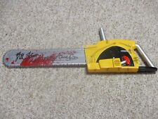 TEXAS CHAINSAW LEATHERFACE BILL JOHNSON SIGNED AUTOGRAPHED CHAINSAW EXACT PROOF