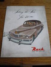NASH RANGE CAR BROCHURE, 1948 USA