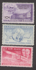 US. C42, C43, C45. Airmail Stamps. Lot of 3. Not a Complete Set. Mint. 1949