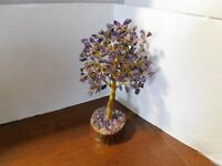 "8"" Amethyst Gemstone Tree Natural Stone Nice Table Deco Known for Healing"