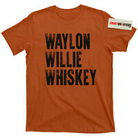 Waylon Jennings Willie Nelson Luckenbach Texas Pancho and Lefty outlaws t shirt
