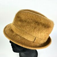 VTG Dobbs Fifth Avenue Hat MINT New York Fedora Hat High Nap Fuzzy Hipster FIRE