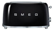 SMEG 50's Retro Style Aesthetic 4 Slice Toaster 1400W Electric Black NEW