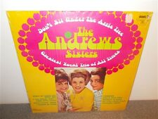 * Andrews Sisters . Don't Sit Under the Apple Tree . LP